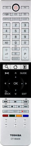 Replacement remote control for Toshiba CT-90430