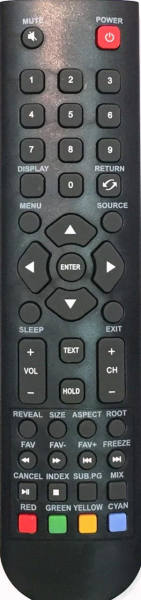 Replacement remote control for Mystery MTV-1628LW