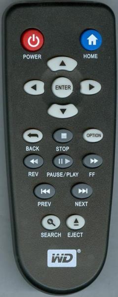 Дублікат пульта дистанційного керування для Western Digital WD LIVE TV PLUS