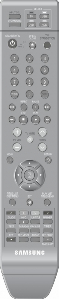 Replacement remote control for Samsung DVD-SH893