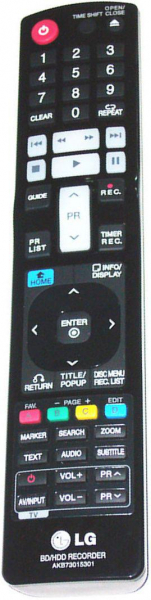 Replacement remote control for LG AKB73015301
