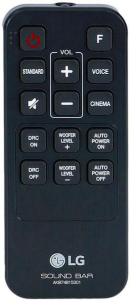Replacement remote control for LG LAS454B